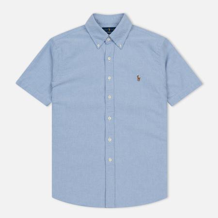 Мужская рубашка Polo Ralph Lauren Oxford Short Sleeve Blue