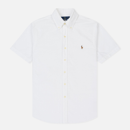 Мужская рубашка Polo Ralph Lauren Oxford Short Sleeve White
