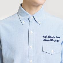 Мужская рубашка Polo Ralph Lauren Oxford Sport SS Embroidered Inscription Blue Tour Art фото- 2