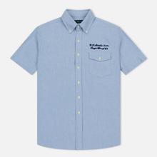Мужская рубашка Polo Ralph Lauren Oxford Sport SS Embroidered Inscription Blue Tour Art фото- 0