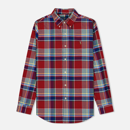 Мужская рубашка Polo Ralph Lauren Oxford Squared Red/Multicolor