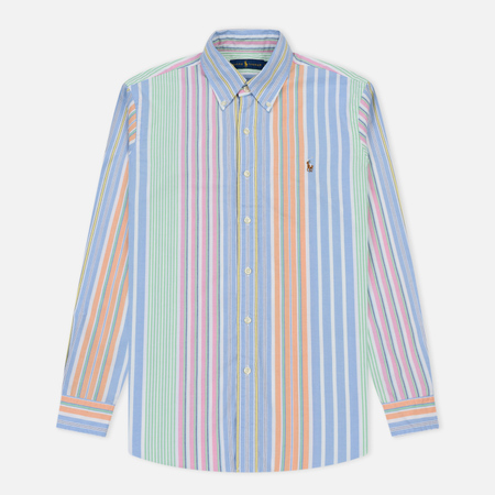 Мужская рубашка Polo Ralph Lauren Oxford Stripe University Run On Multicolor