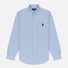 Мужская рубашка Polo Ralph Lauren Polo Bear Embroidered Pocket Oxford Blue фото- 0