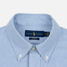 Мужская рубашка Polo Ralph Lauren Polo Bear Embroidered Pocket Oxford Blue фото- 1