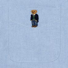 Мужская рубашка Polo Ralph Lauren Polo Bear Embroidered Pocket Oxford Blue фото- 2