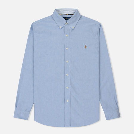 Мужская рубашка Polo Ralph Lauren Polo Logo Oxford Blue