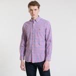 Мужская рубашка Polo Ralph Lauren Polo Logo Oxford Gingham Ruby/Blue фото- 1
