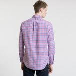 Мужская рубашка Polo Ralph Lauren Polo Logo Oxford Gingham Ruby/Blue фото- 3
