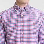 Мужская рубашка Polo Ralph Lauren Polo Logo Oxford Gingham Ruby/Blue фото- 2