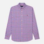 Мужская рубашка Polo Ralph Lauren Polo Logo Oxford Gingham Ruby/Blue фото- 0