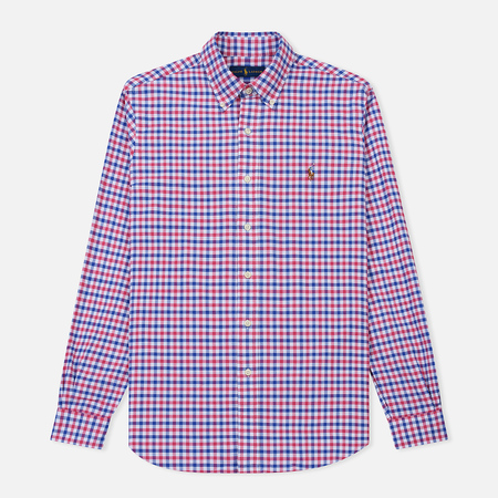 Мужская рубашка Polo Ralph Lauren Polo Logo Oxford Gingham Ruby/Blue