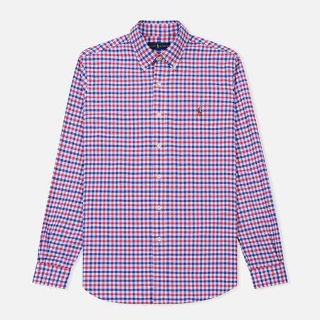 Мужская рубашка Polo Ralph Lauren Polo Logo Oxford Gingham Ruby/Blue