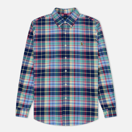 Мужская рубашка Polo Ralph Lauren Polo Logo Oxford Navy/Red/Multicolor