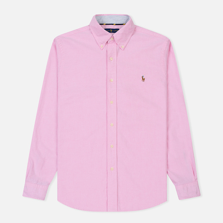 Мужская рубашка Polo Ralph Lauren Polo Logo Oxford New Rose
