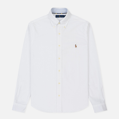 Мужская рубашка Polo Ralph Lauren Polo Logo Oxford White