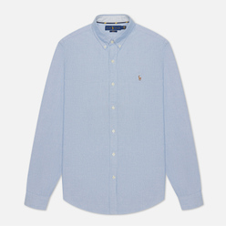 Мужская рубашка Polo Ralph Lauren Polo Pony Colored Oxford Slim Fit Blue