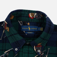Мужская рубашка Polo Ralph Lauren Printed Corduroy Button Down Blackwatch Bears фото- 1
