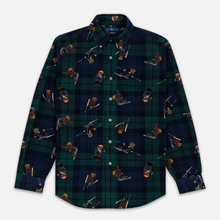 Мужская рубашка Polo Ralph Lauren Printed Corduroy Button Down Blackwatch Bears фото- 0