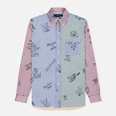 5e5f7e818071120 Мужская рубашка Polo Ralph Lauren Printed Poplin Heraldic Icon Multicolor