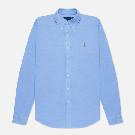 Мужская рубашка Polo Ralph Lauren Regular Fit 55/2 Oxford Pique Harbor Island Blue