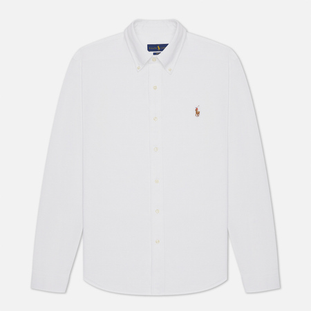 Мужская рубашка Polo Ralph Lauren Regular Fit 55/2 Oxford Pique White