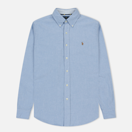Мужская рубашка Polo Ralph Lauren Slim Fit Button Down Oxford Blue