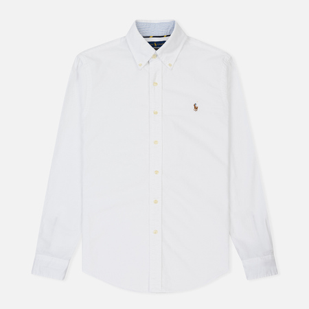 Мужская рубашка Polo Ralph Lauren Slim Fit Button Down Oxford White