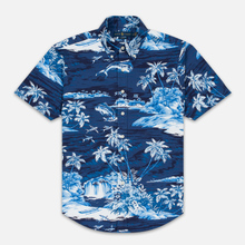 Мужская рубашка Polo Ralph Lauren Slim Fit Button Down Polo Pony Printed Oxford Flying Fish фото- 0