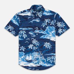 Мужская рубашка Polo Ralph Lauren Slim Fit Button Down Polo Pony Printed Oxford Flying Fish