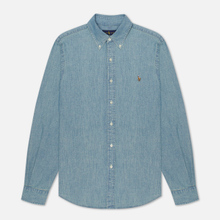 Мужская рубашка Polo Ralph Lauren Slim Fit Chambray Light Indigo фото- 3