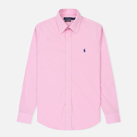 Мужская рубашка Polo Ralph Lauren Slim Fit Natural Stretch Poplin Carmel Pink
