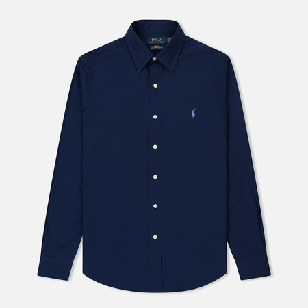 Мужская рубашка Polo Ralph Lauren Slim Fit Natural Stretch Poplin Newport Navy