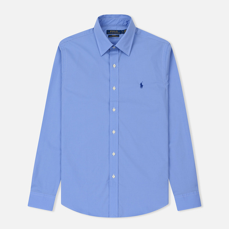 Мужская рубашка Polo Ralph Lauren Slim Fit Natural Stretch Poplin Periwinkle Blue