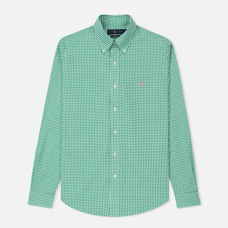 Мужская рубашка Polo Ralph Lauren Slim Fit Natural Stretch Poplin Stem Green