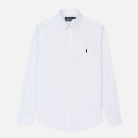 Мужская рубашка Polo Ralph Lauren Slim Fit Natural Stretch Poplin White
