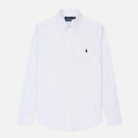 Мужская рубашка Polo Ralph Lauren Slim Fit Natural Stretch Poplin White