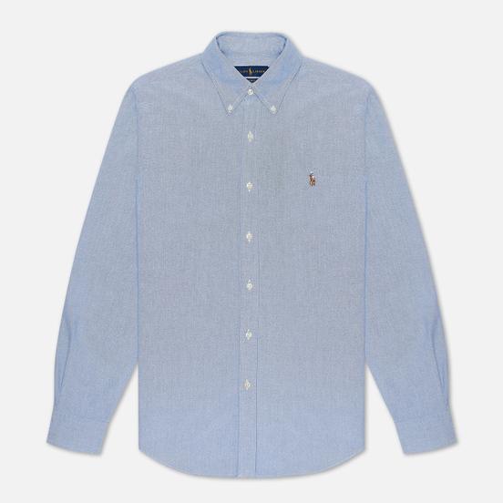 Мужская рубашка Polo Ralph Lauren Slim Fit Oxford Blue