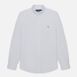 Мужская рубашка Polo Ralph Lauren Slim Fit Oxford Blue/White