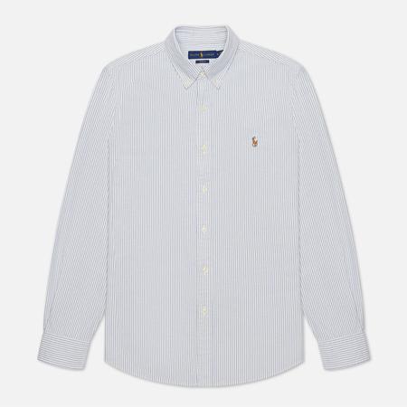Мужская рубашка Polo Ralph Lauren Slim Fit Oxford Blue/White