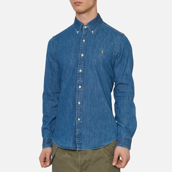 Мужская рубашка Polo Ralph Lauren Slim Fit Oxford Denim