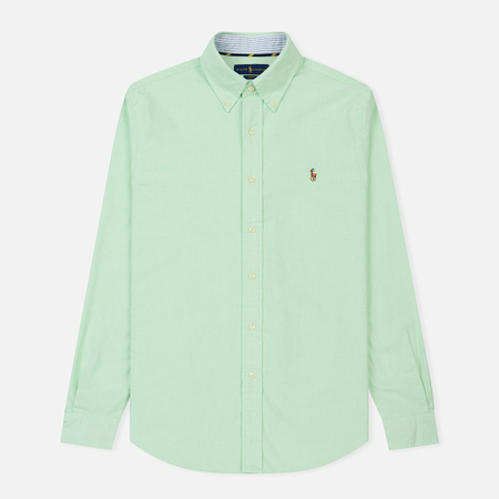 Мужская рубашка Polo Ralph Lauren Slim Fit Oxford Embroidered Logo Light Green