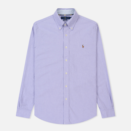 Мужская рубашка Polo Ralph Lauren Slim Fit Oxford Embroidered Logo Purple