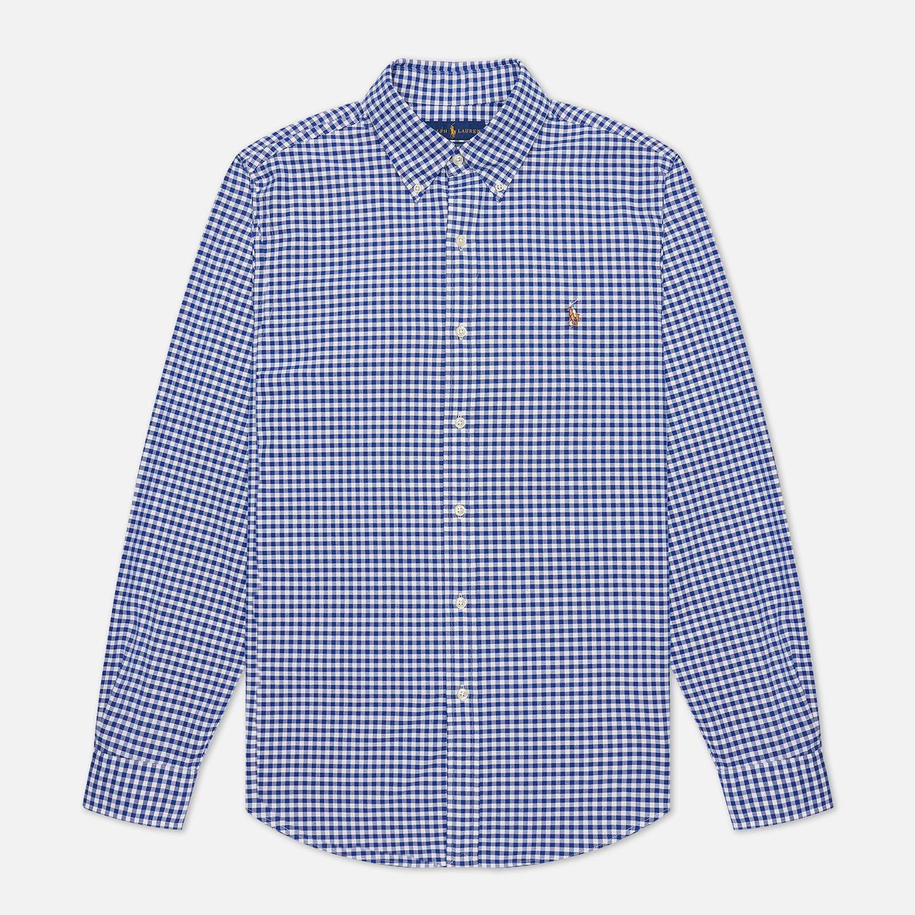 Мужская рубашка Polo Ralph Lauren Slim Fit Oxford Royal/White