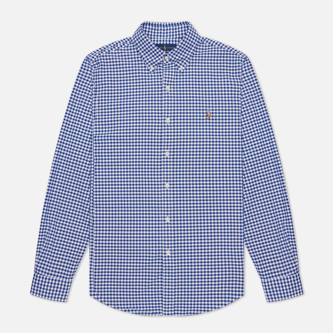 Мужская рубашка Polo Ralph Lauren Slim Fit Oxford Royal/White