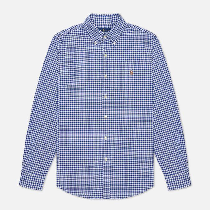 ab37ac544c00 Мужская рубашка Polo Ralph Lauren Slim Fit Oxford Royal White 710 ...