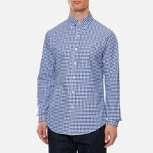 Мужская рубашка Polo Ralph Lauren Slim Fit Oxford Royal/White фото- 2