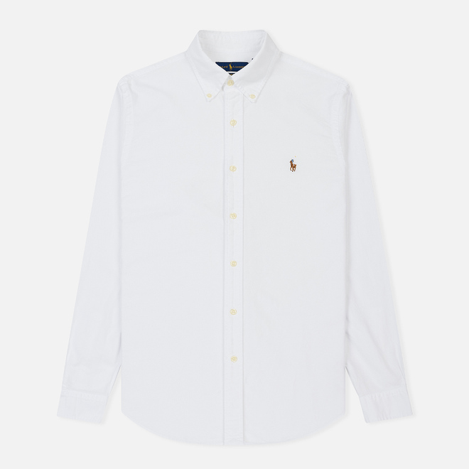 Мужская рубашка Polo Ralph Lauren Slim Fit Oxford White