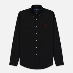 Мужская рубашка Polo Ralph Lauren Slim Fit Stretch Poplin Black