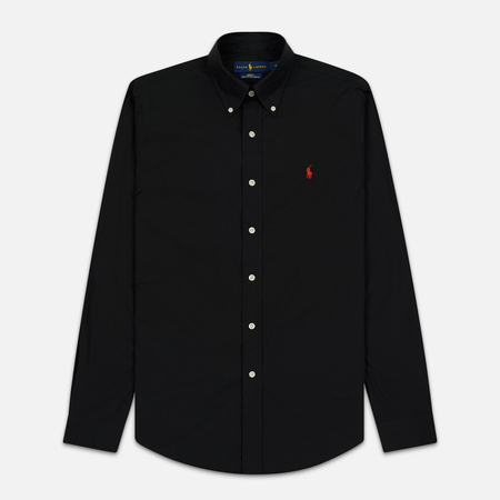 Мужская рубашка Polo Ralph Lauren Slim Fit Stretch Poplin Black