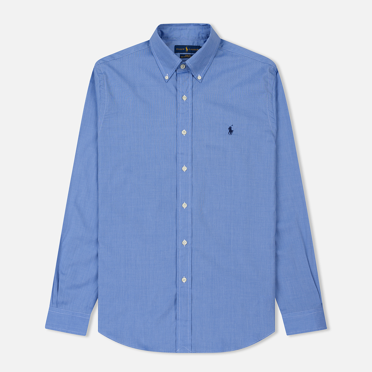 Мужская рубашка Polo Ralph Lauren Slim Fit Stretch Poplin Blue
